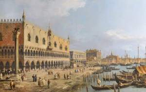 Canaletto, 1697-1768; The Doge's Palace, Venice