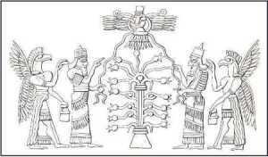 Ancient Akkadians honour their tree of life